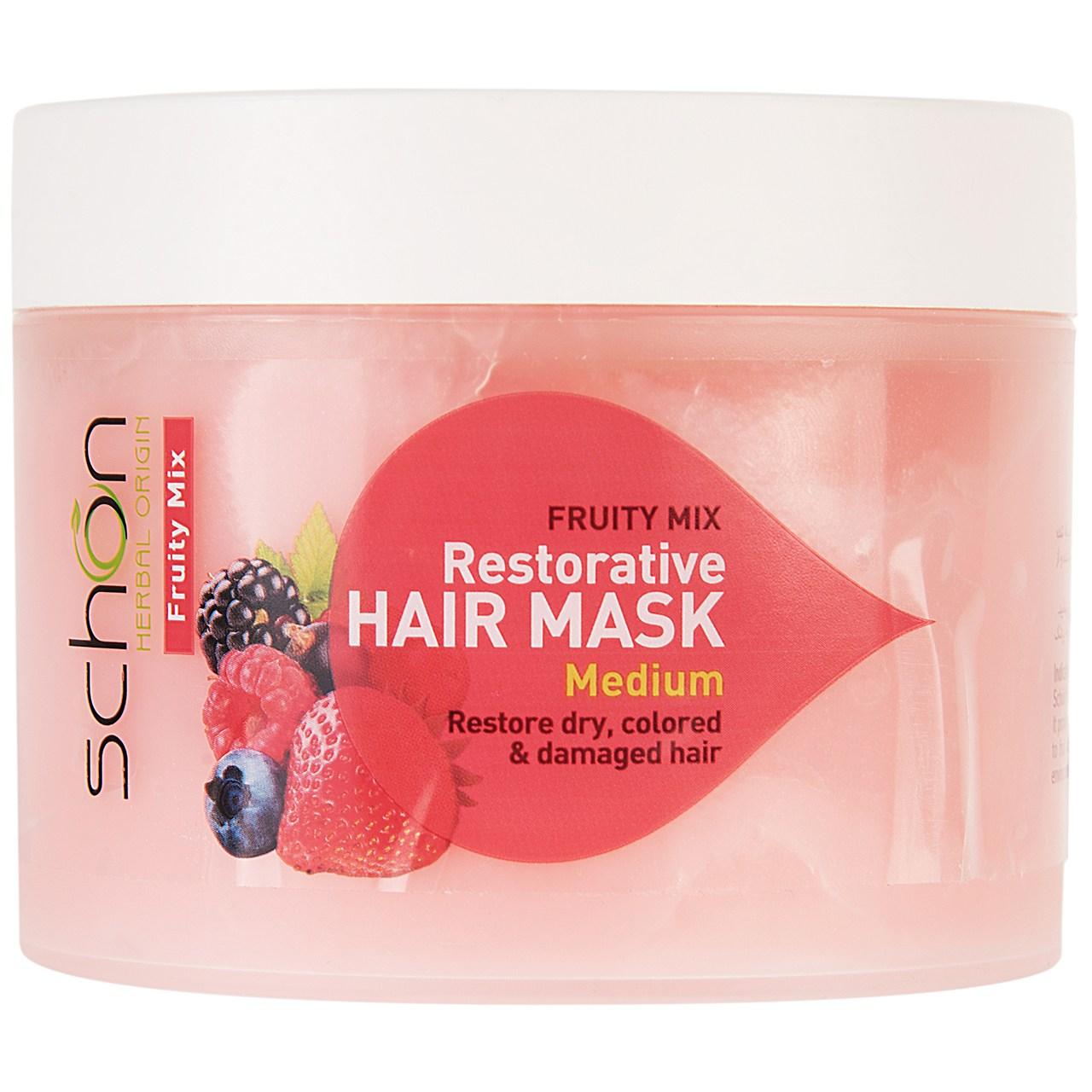 خرید                     ماسک موی احیا کننده شون مدل Fruity حجم 300 میلی لیتر