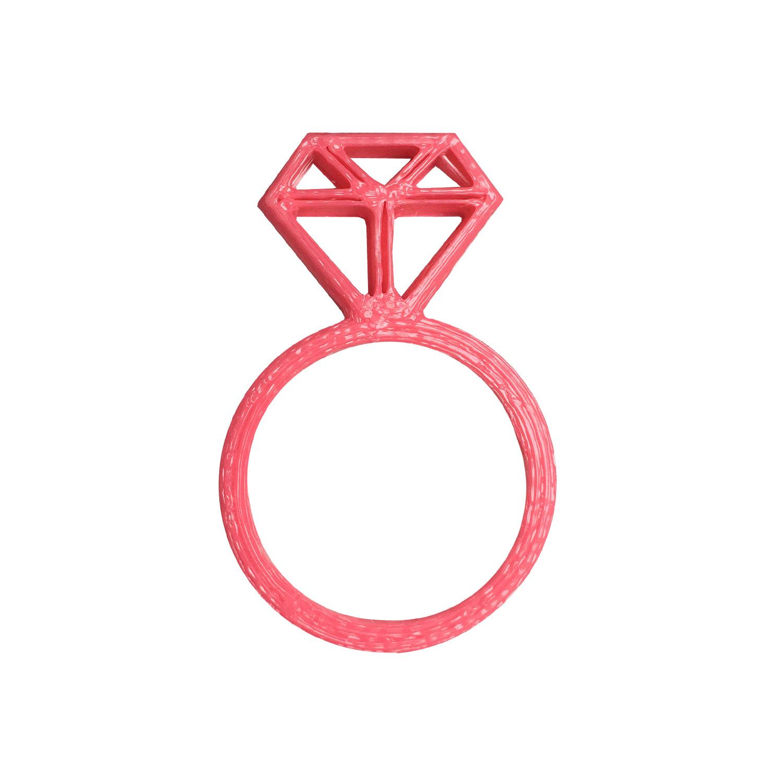 انگشتر دخترانه طرح الماس کد 3DTY01pnk