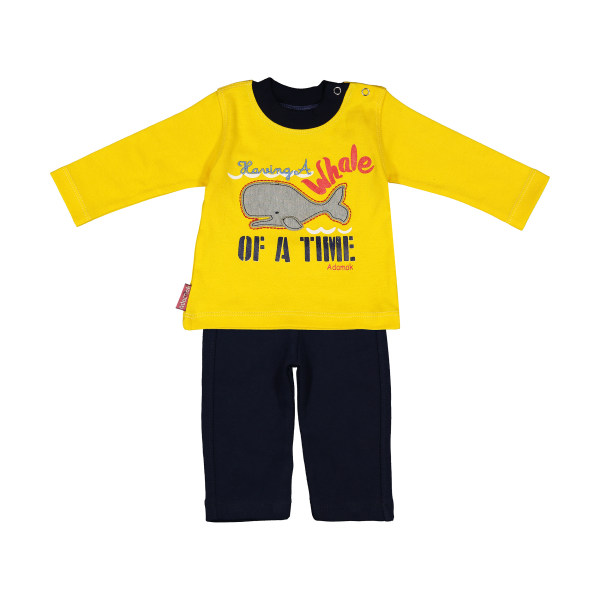 ست تی شرت و شلوار دخترانه آدمک مدل 2171130-19