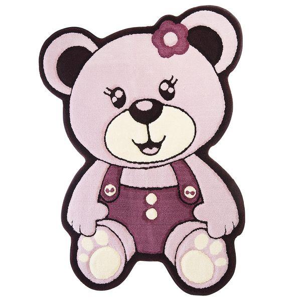فرش تزیینی زرباف مدل خرس دختر سایز 100×75