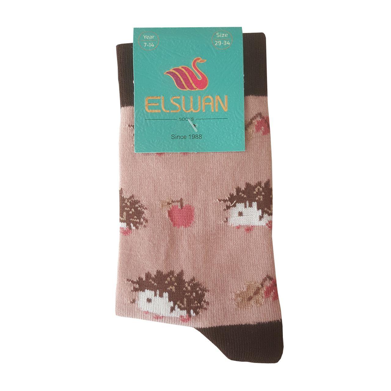 جوراب دخترانه ال سون طرح جوجه تیغی کد PH411 -  - 6