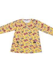 ست تی شرت و شلوار دخترانه طرح پروانه کد 3071 رنگ زرد -  - 3