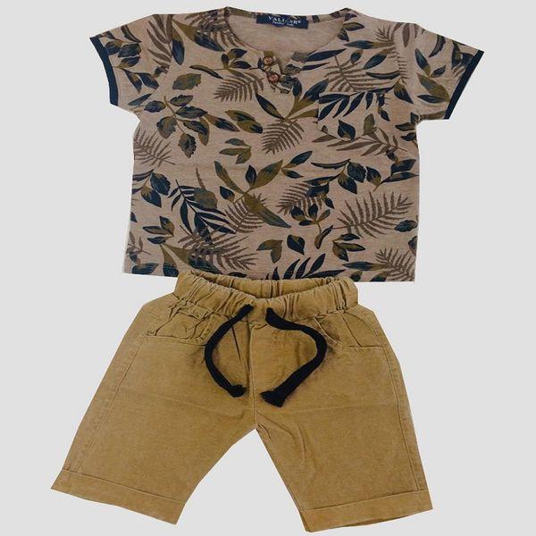 ست تی شرت و شلوارک پسرانه مدل هاوایی کد Happy13