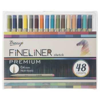 روان نویس 48 رنگ بیانیو مدل Fineliner Premium Sketch