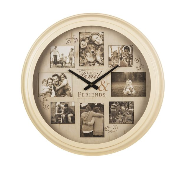 ساعت دیواری و قاب عکس لوتوس مدل 1700