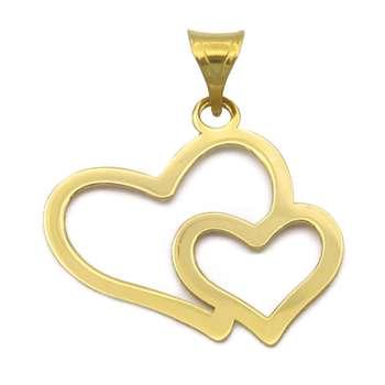 آویز گردنبند طلا 18 عیار زنانه گالری مرجان طرح قلب مدل 0926