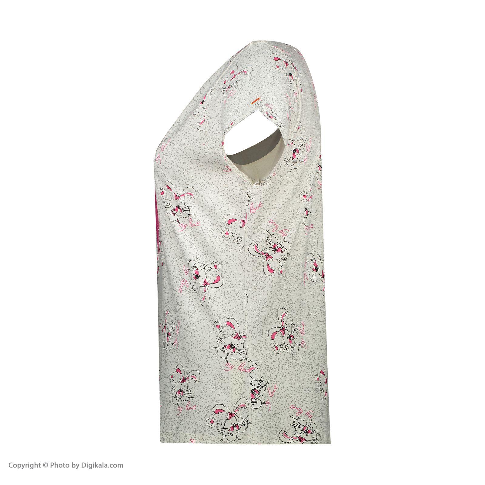 ست تی شرت و شلوارک راحتی زنانه مادر مدل 2041105-66 -  - 7
