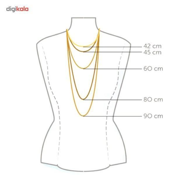 گردنبند طلا 18 عیار ماهک مدل MM0487 -  - 3