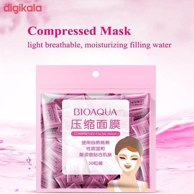 قرص ماسک ورقه ای صورت بایو آکوا مدل F01 بسته 50 عددی main 1 2