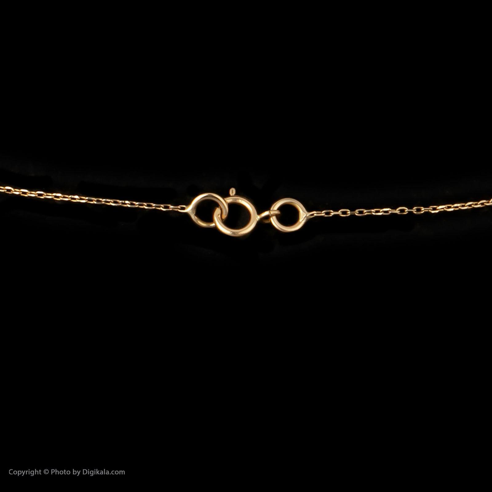 گردنبند طلا 18 عیار زنانه سنجاق مدل X074732 -  - 5