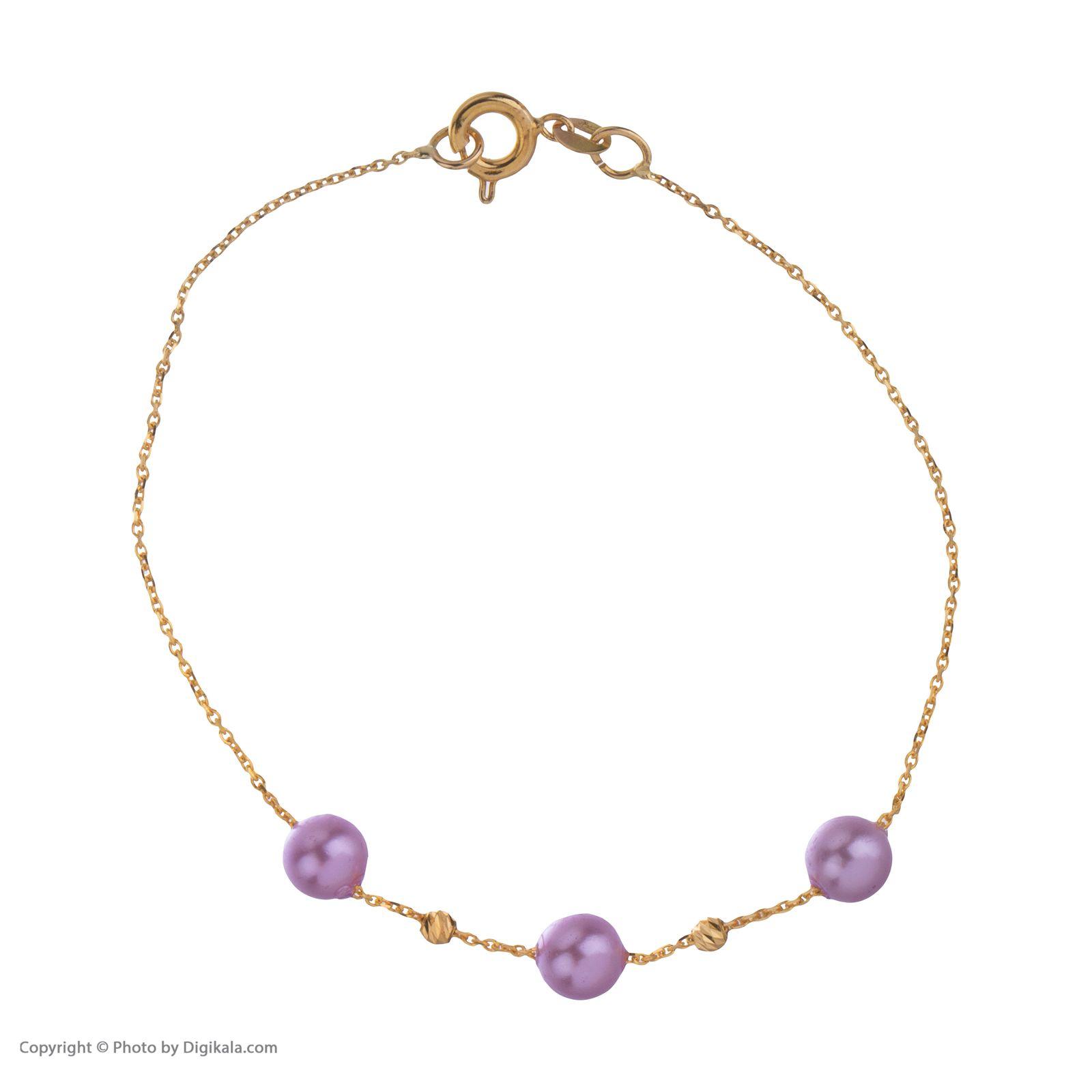 دستبند طلا 18 عیار زنانه مایا ماهک مدل ZMB1052 -  - 3