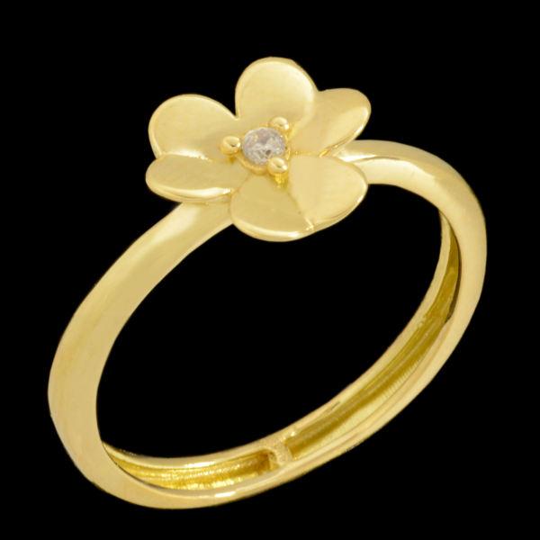 انگشتر طلا 18 عیار زنانه طلای مستجابی مدل 670154
