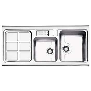 سینک ظرفشویی استیل البرز کد 815 روکار