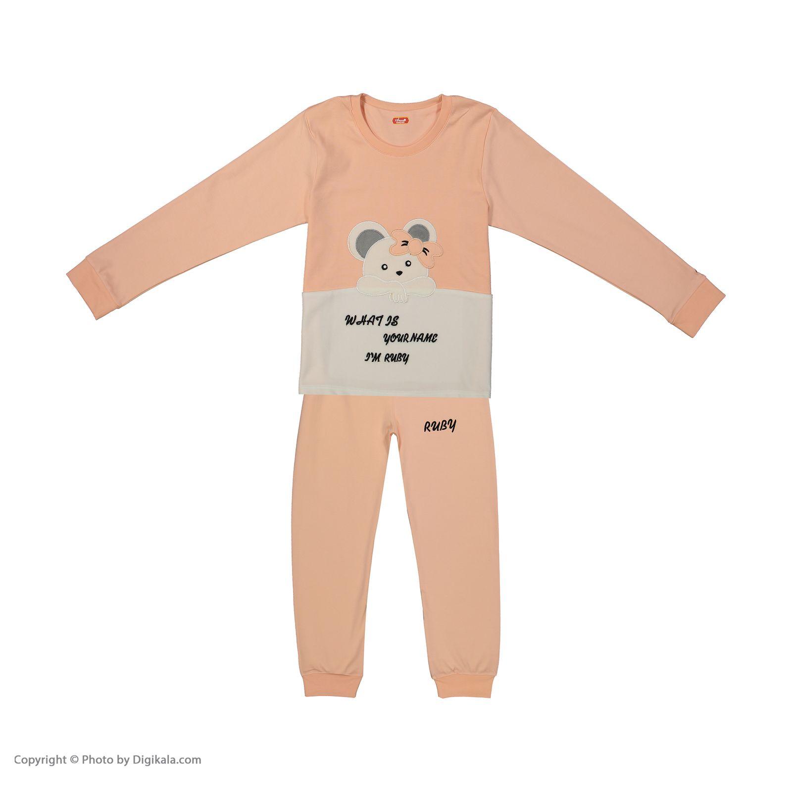 ست تی شرت و شلوار دخترانه مادر مدل 301-80 main 1 1