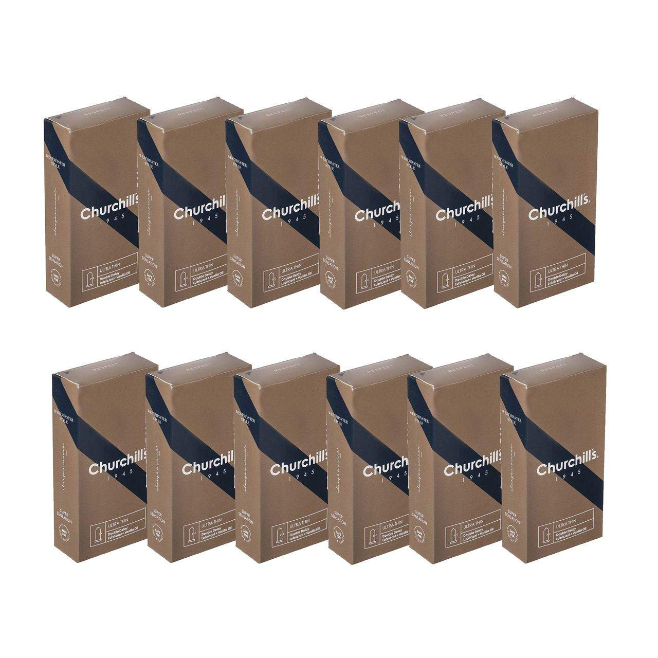 کاندوم چرچیلز مدل Ultra Thin مجموعه 12 عددی