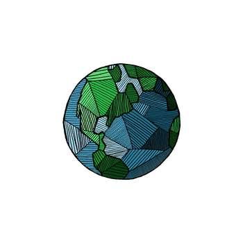استیکر لپ تاپ لولو طرح کره زمین کد 187