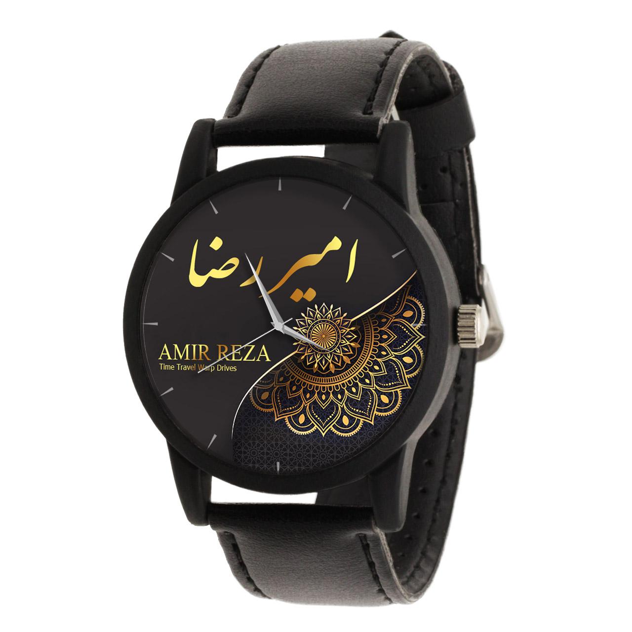 قیمت و خرید                      ساعت مچی عقربه ای مردانه طرح امیر رضا کد LF3265