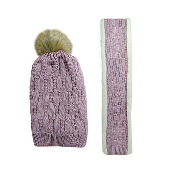 ست کلاه و شال گردن بافتنی زنانه کد 4730