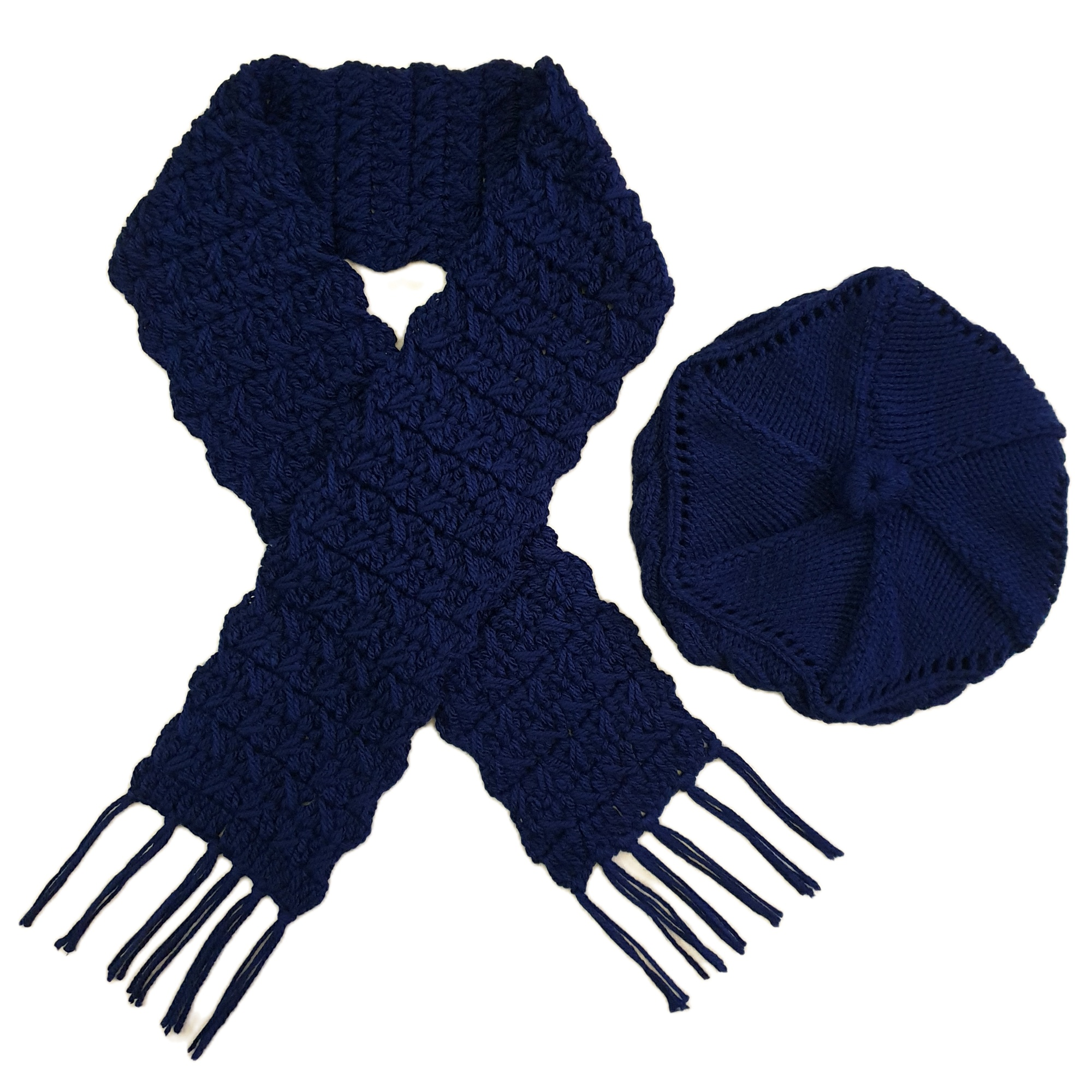 ست كلاه و شال گردن بافتنی زنانه كد SHB3-NV