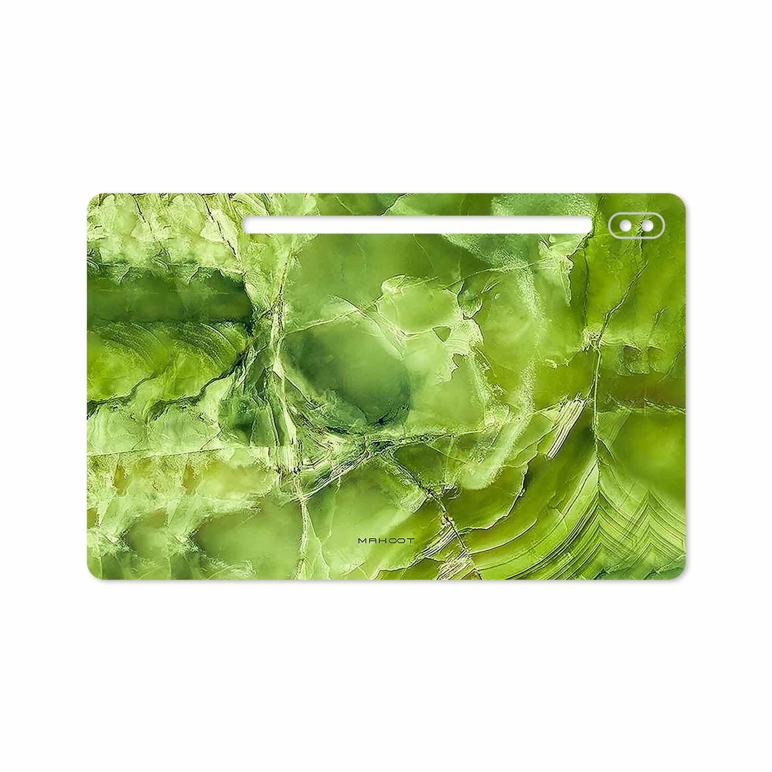 بررسی و خرید [با تخفیف]                                     برچسب پوششی ماهوت مدل Green Crystal Marble مناسب برای تبلت سامسونگ Galaxy Tab S6 2019 SM-T865                             اورجینال