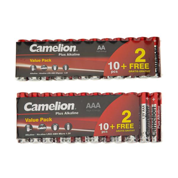 باتری قلم و نیم قلمی کملیون مدل Plus Alkaline مجموعه 24 عددی
