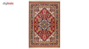 فرش ماشینی سهند کد R045.BJ طرح هریس زمینه قرمز  Sahand Model Heris Mechine Made Carpet Code B045.B