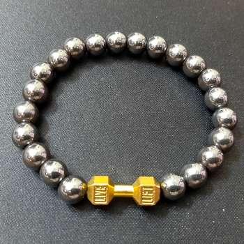 دستبند مردانه طرح دمبل مدل LIFT