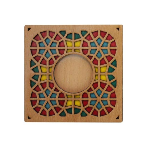جاشمعی رومیزی چوبی گالری روهام مدل 101 سنتی بسته 2 عددی