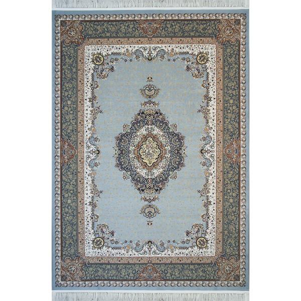 فرش ماشینی مشهد اردهال طرح 12101 زمینه آبی رویال