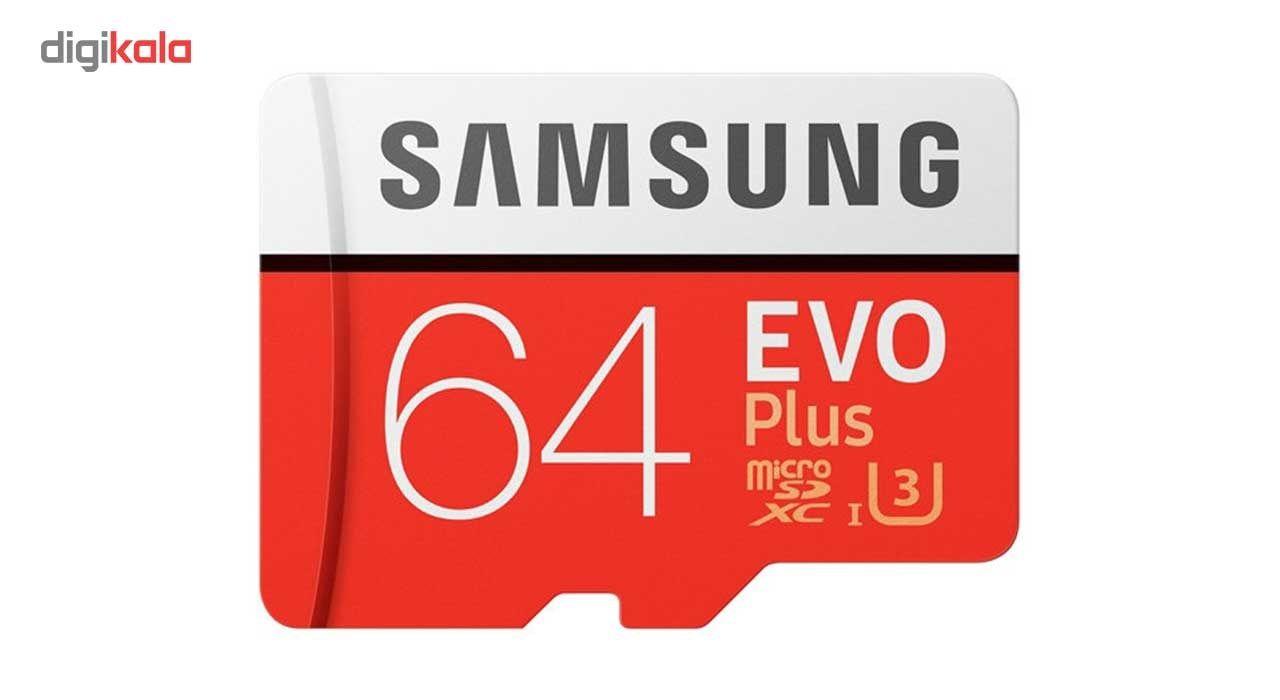 کارت حافظه microSDXC سامسونگ مدل Evo Plus کلاس 10 استاندارد UHS-I U3 سرعت 100MBps همراه با آداپتور SD ظرفیت 64 گیگابایت main 1 2