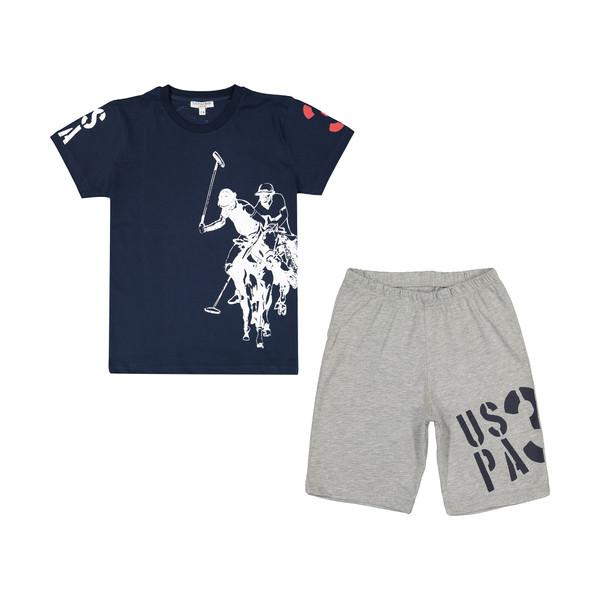 ست تی شرت و شلوارک پسرانه یو اس پولو مدل U 5600