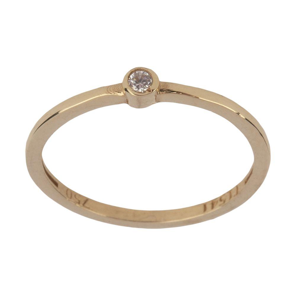 انگشتر طلا 18 عیار زنانه نیوانی مدل NR038