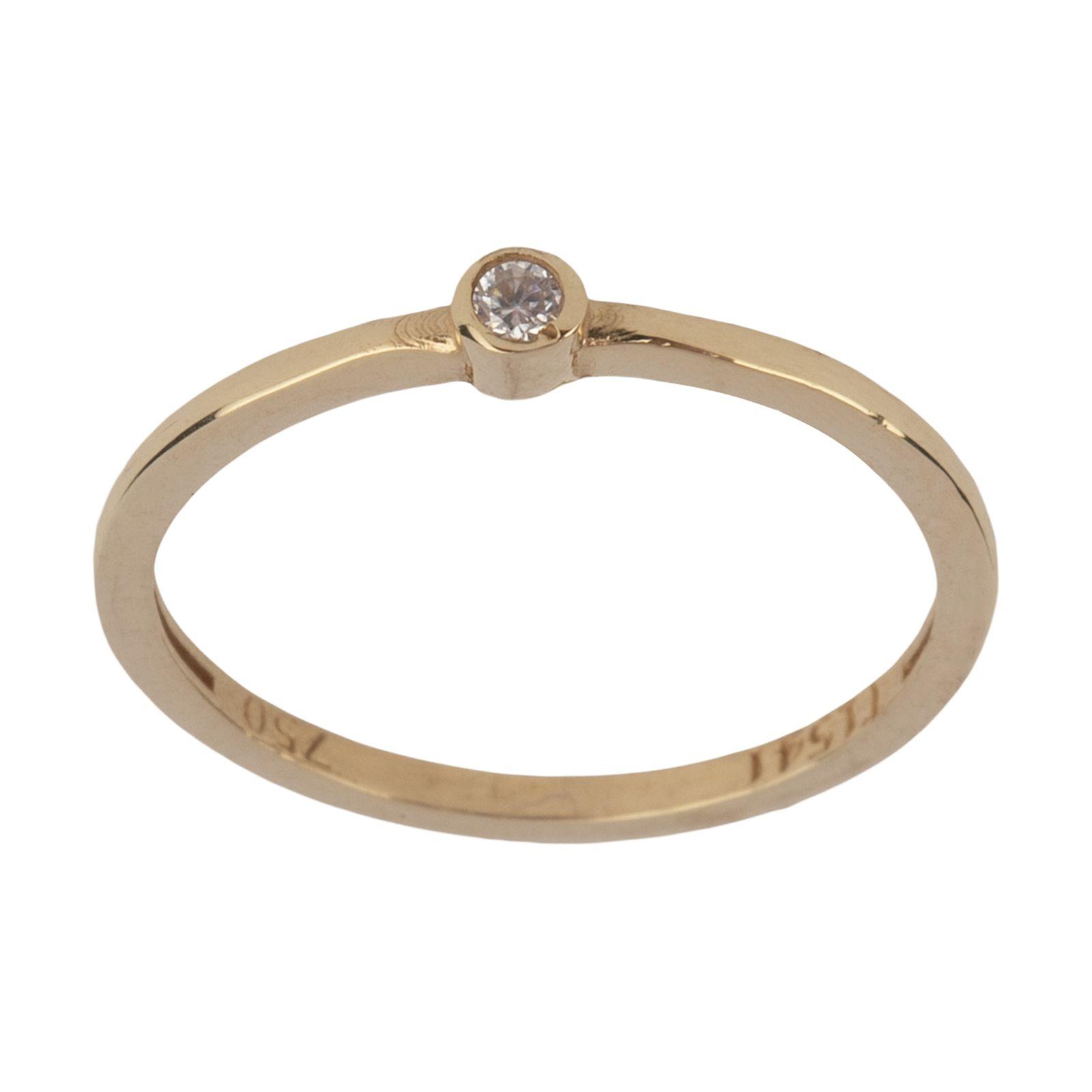 انگشتر طلا 18 عیار زنانه نیوانی مدل NR038 -  - 2