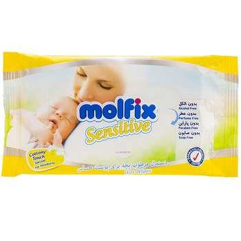 دستمال مرطوب مولفیکس مدل Sensitive - بسته 20 عددی