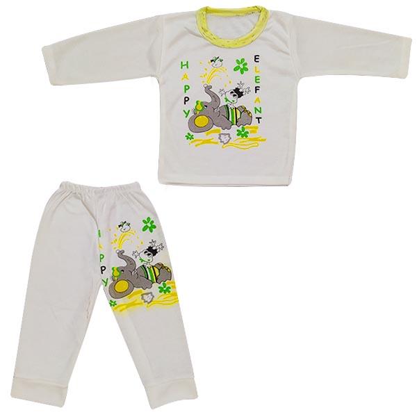 ست تیشرت و شلوار نوزادی طرح فیل کد G600