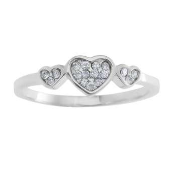 انگشتر زنانه طرح قلب کد RKH_260
