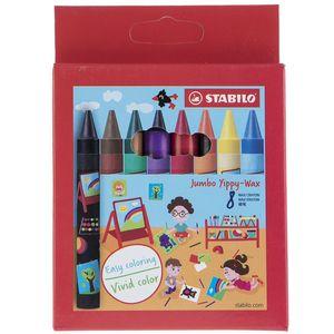 مداد شمعی 8 رنگ استابیلو مدل Jumbo Yippy-Wax