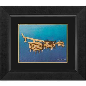 تابلوی طلاکوب زرسام طرح سکوی پارس جنوبی سایز 35 × 40 سانتی متر