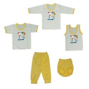 ست 5 تکه لباس نوزادی کد 555ZAG
