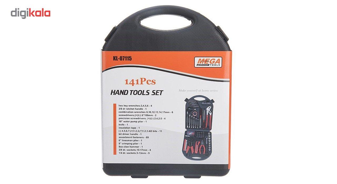 مجموعه 141 عددی ابزار مگا تولز مدل KL-07115 main 1 32