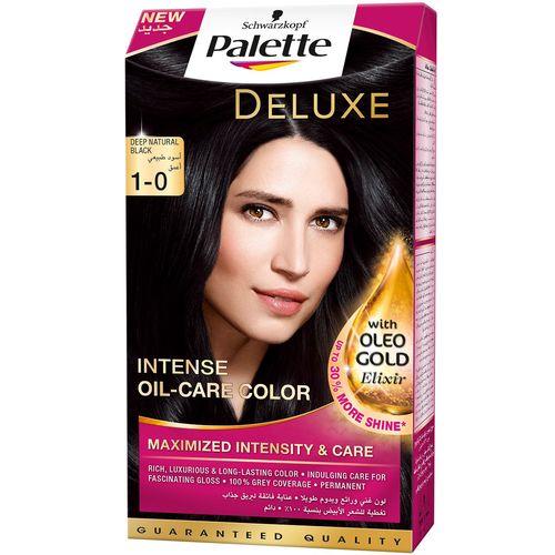 کیت رنگ مو پلت سری Deluxe  مدل Deep Natural Black Shade شماره 0-1