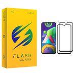 محافظ صفحه نمایش فلش مدل +HD مناسب برای گوشی موبایل سامسونگ Galaxy M21 بسته دو عددی