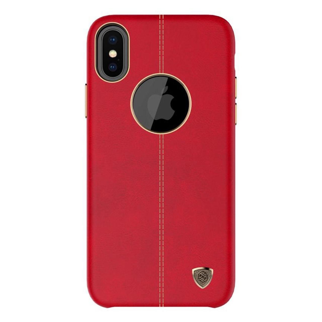 کاور نیلکین مدل Englon Leather مناسب برای گوشی موبایل اپل آیفون X