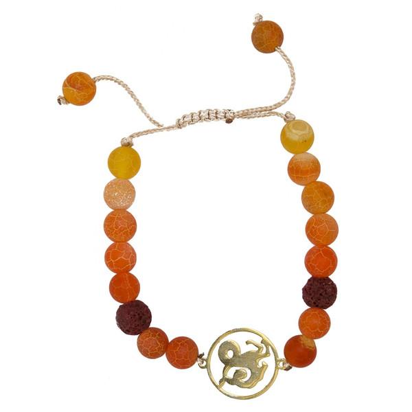 دستبند نوژین مدل دی نارنجی