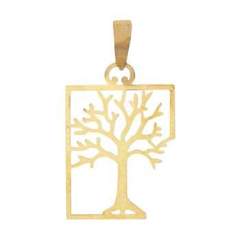 آویز گردنبند طلا 18 عیار زنانه باراد زر مدل درخت کد b21