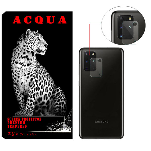 محافظ لنز دوربین آکوا مدل LN مناسب برای گوشی موبایل سامسونگ Galaxy S20 Plus