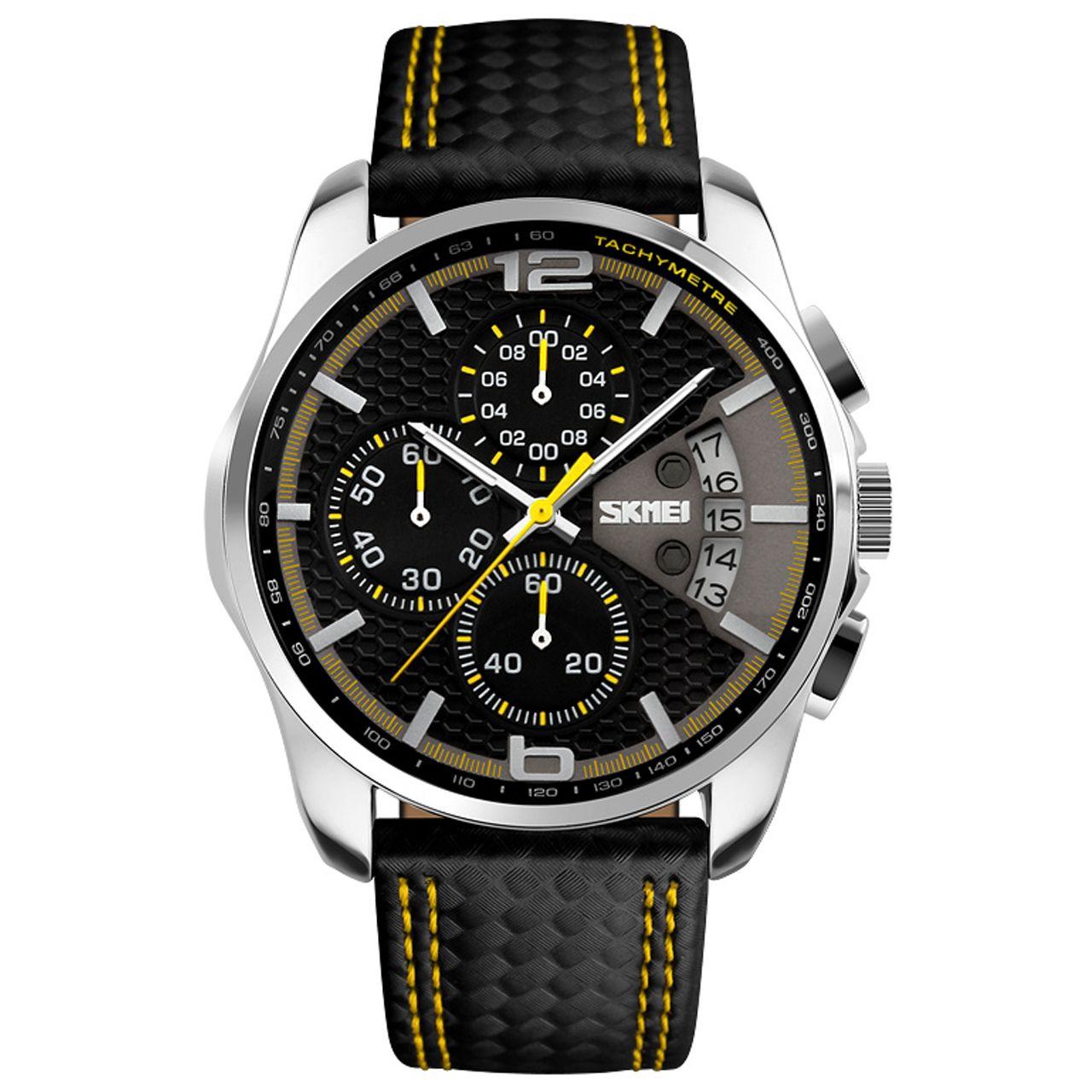 ساعت مچی عقربه ای مردانه اسکمی مدل 9106Y-NP -  - 2