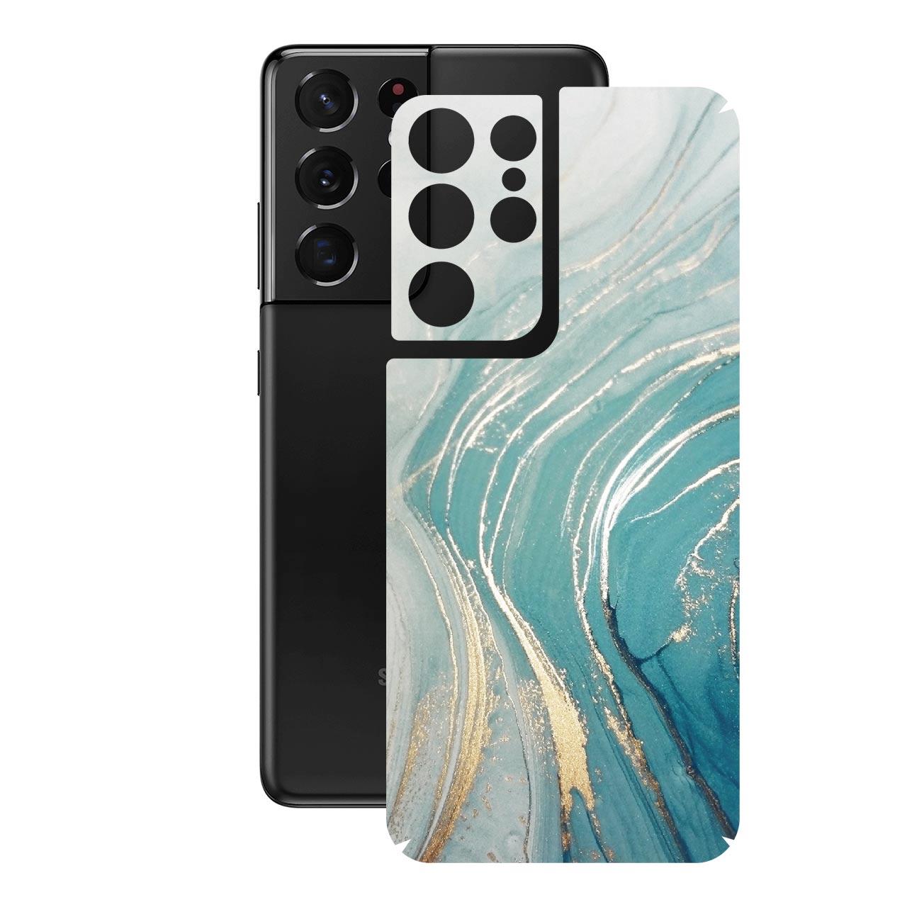 برچسب پوششی راک اسپیس مدل Marble-GN مناسب برای گوشی موبایل  سامسونگ  Galaxy S21 Ultra