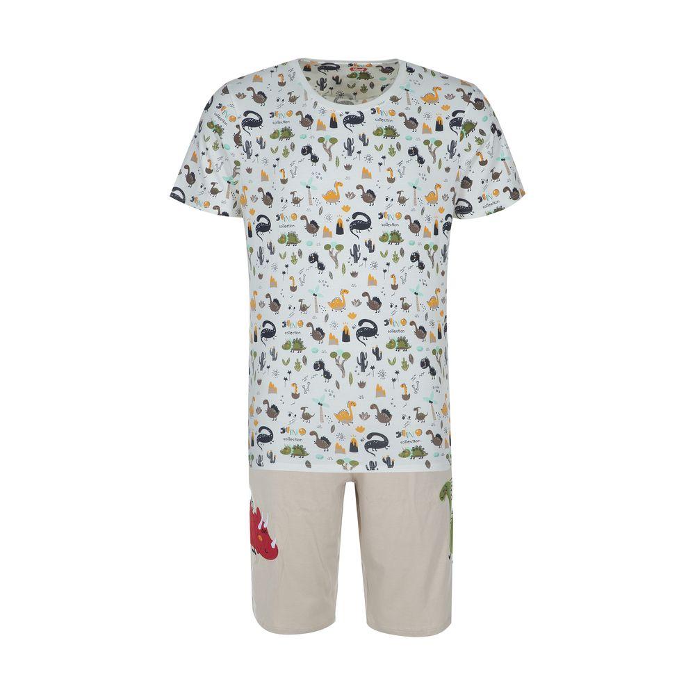 ست تی شرت و شلوارک راحتی مردانه مادر مدل 2041110-07