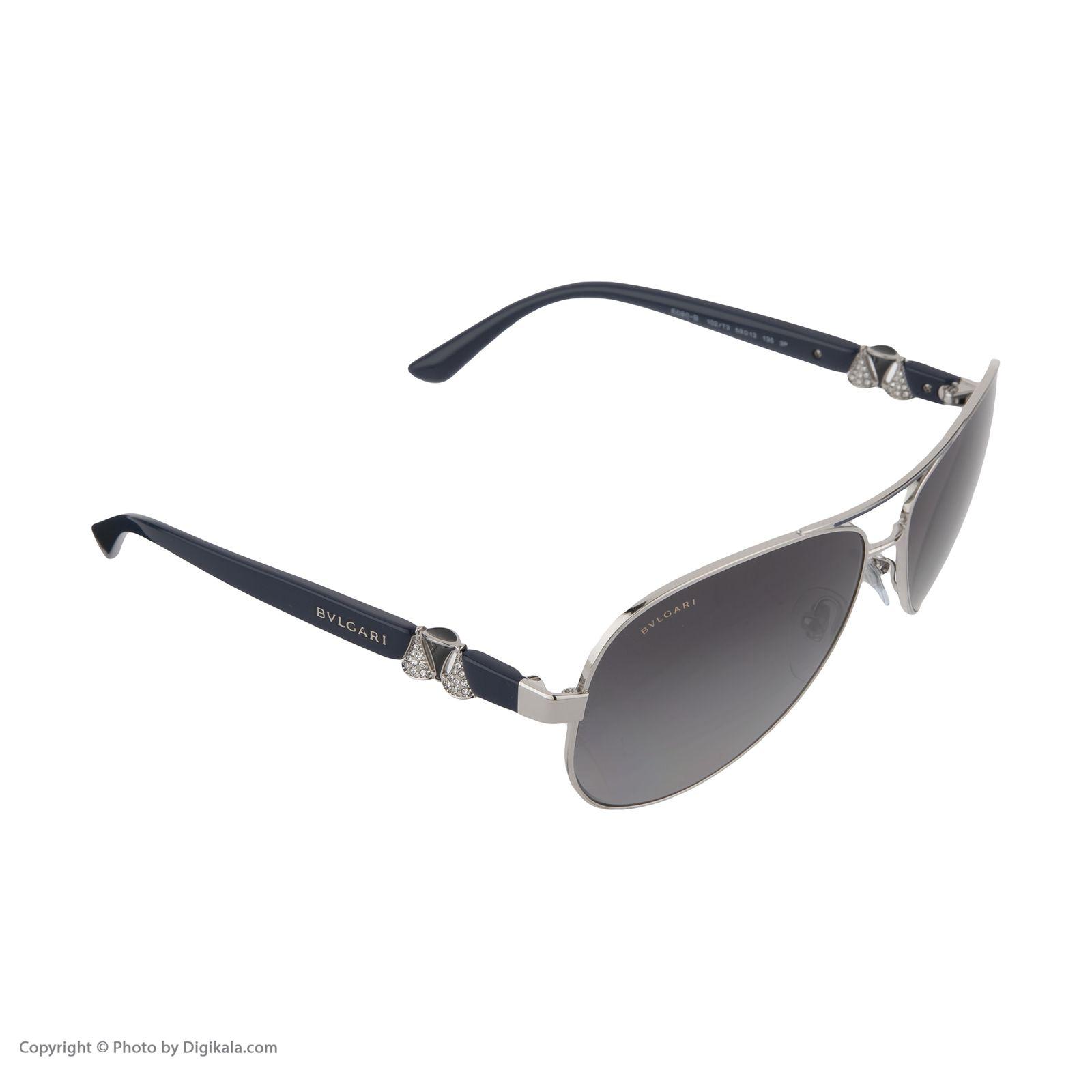 عینک آفتابی زنانه بولگاری مدل  BV6080B 0102T3 -  - 4